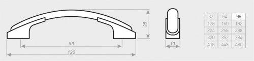 Мебельная ручка АЛДИ С2