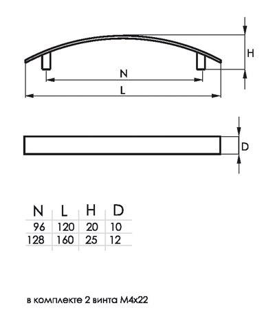 Мебельная ручка SOLLER 345-96S