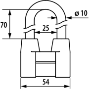 Замок навесной ЧАЗ ВС2-4А-01