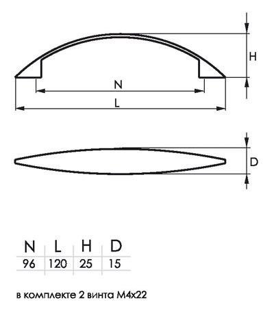 Мебельная ручка SOLLER 2856B-96