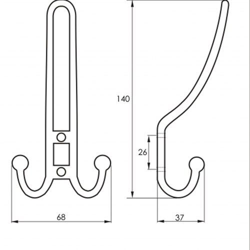 Крючок мебельный SOLLER 208 А
