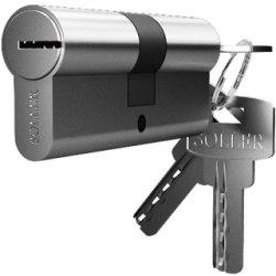 Механизм цилиндровый SOLLER F3 (3 ключа) латунь/металл, профильный ключ Cu.С