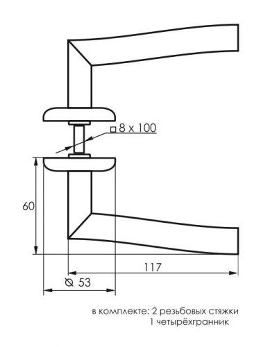 Комплект дверных ручек SOLLER ZY-501
