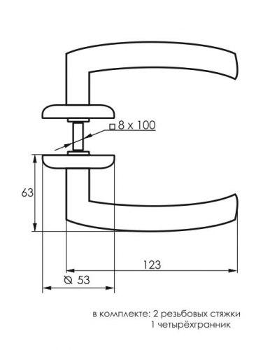 Комплект дверных ручек SOLLER ZY-505