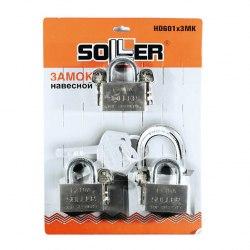 Замок навесной EXTRA мастер-ключ SOLLER 601-60HD (блистер 3шт)