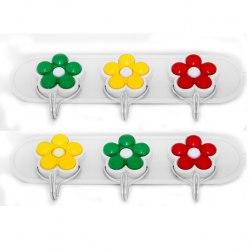 Набор крючков пластмассовых на планке 2 шт SOLLER 879 ZR