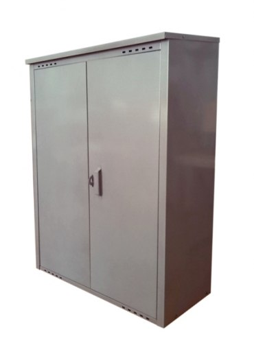 Шкаф д/газовых баллонов (на 2 бал. по 50л.), серый ЗСИ