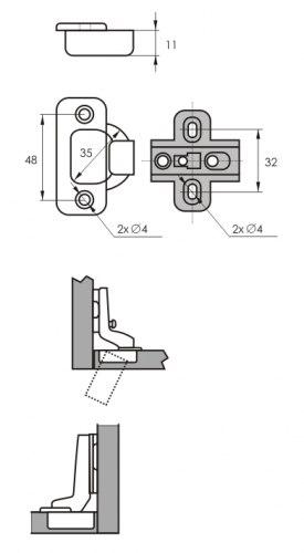 Петля мебельная внутренняя SOLLER А362С
