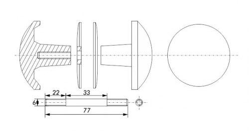 Ручка дверная SOLLER РДК-110
