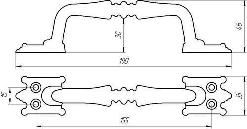 Ручка дверная скоба SOLLER РС-100-2