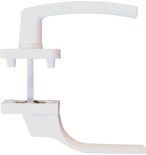Ручка оконная двусторонняя узкая / обычная, алюминиевая, 4-х позиционная с ключом