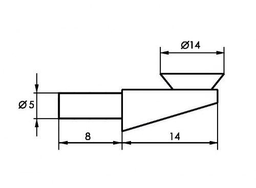 Полкодержатель для стекла с присоской SOLLER 5618