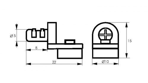 Полкодержатель для стекла с присоской SOLLER 5*10 (05619)
