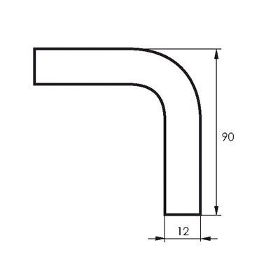 Уголок к рейлингу 90* хром SOLLER АЕ-1017