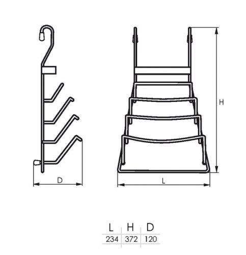 Полка для крышек SOLLER АЕ-661 (232*103*375)
