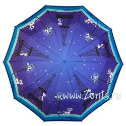 Зонт женский автомат Zest 23966 Кошка в Париже