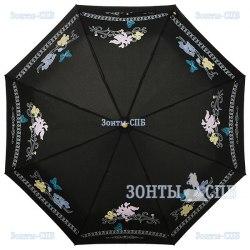 Зонт женский автомат Три слона 220 Чёрный