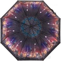 Зонт женский полуавтомат Три слона 883 Ночь