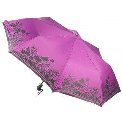 Зонт женский автомат Zest 23849 Чёрные цветы
