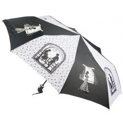 Зонт женский автомат Zest 23849 чёрно белый