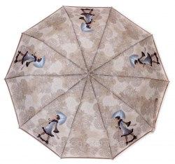 Зонт женский полуавтоматический Zest 53616 Девушка с собачкой