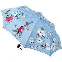 Зонт с проявляющимся рисунком Три слона 220Р (Голубой)