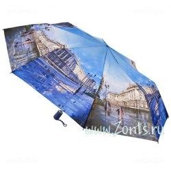 Зонт женский автомат Zest 23745 (Дождь в Питере)