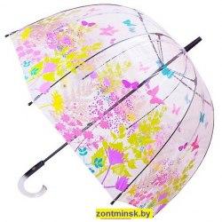 Зонт женский прозрачный Zest 51570 (Бабочки)