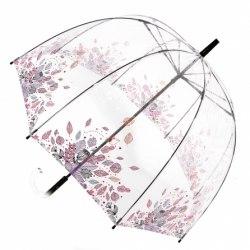 Зонт женский прозрачный Zest 51570 листья