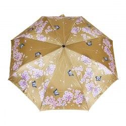 Зонт женский автомат Три слона 880 (Бабочки на золотом)