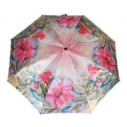 Зонт женский автомат Три слона 880 (Розовые цветы)