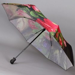 Зонт женский автомат Trust 30471 Птица на цветах