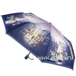 Зонт женский автомат Zest 23945 (Сиреневый город)