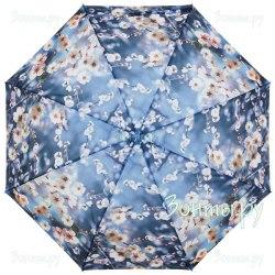 Зонт женский полуавтомат Zest 23625 Цветы на голубом