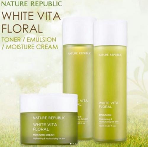 Набор осветляющий и увлажняющий 20+ Nature Republic White Vita Floral