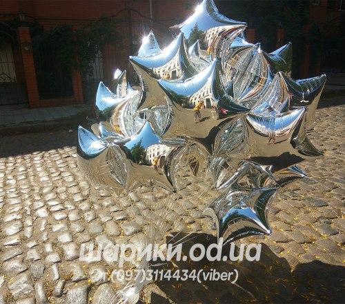 Звезда серебряная 45 см