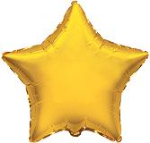 Фольгированная звезда золотая 45 см.