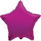 Фольгированная звезда фуксия 45 см.