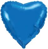 Шарик синее сердце 45 см. 45 см.