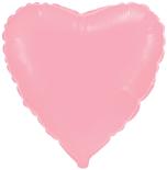 Шарик розовое сердце 45 см.