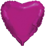 Шарик малиновое сердце(фуксия) 45 см.
