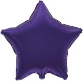 Фольгированная звезда фиолетовая 45 см.