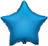Фольгированная звезда синяя 45 см.