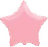 Фольгированная звезда розовая 45 см