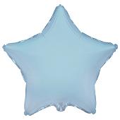 Фольгированная звезда голубая 45 см.