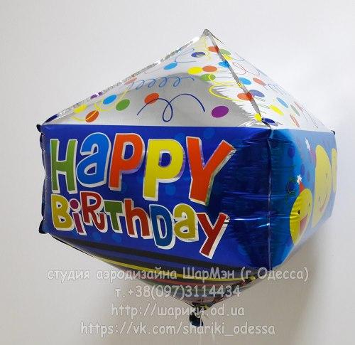Фольгированный шар кубик