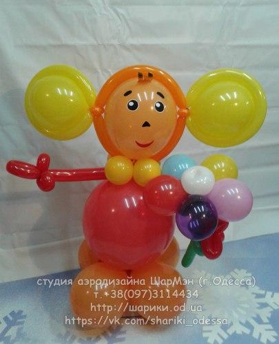 Чебурашка из шариков
