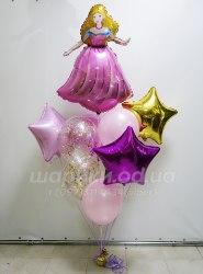 """Букет из шариков """"Звездная Принцесса"""""""