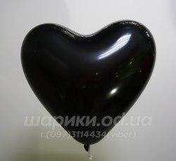 Черное шарик сердце