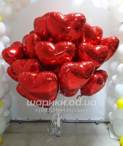 Фольгированный шарик красное сердце